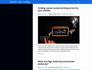 blog.templateism.com screenshot