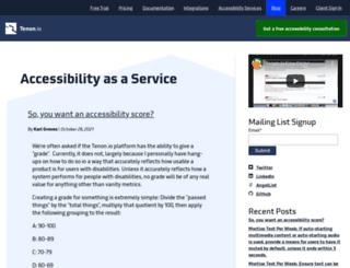 blog.tenon.io screenshot
