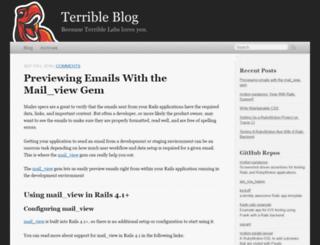 blog.terriblelabs.com screenshot