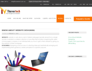 blog.thavertech.co.in screenshot