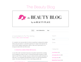 blog.thebeautyplace.com screenshot