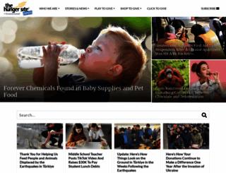 blog.thehungersite.com screenshot