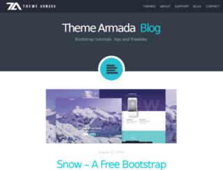 blog.themearmada.com screenshot