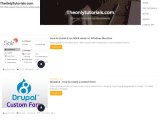 blog.theonlytutorials.com screenshot