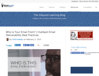 blog.thinkhandy.com screenshot