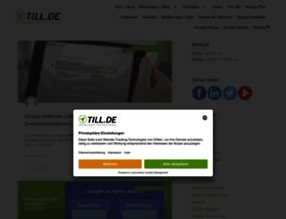 blog.till.de screenshot