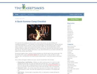 blog.tinykeepsakes.com screenshot
