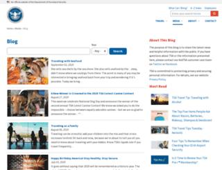 blog.tsa.gov screenshot