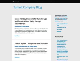blog.tumult.com screenshot