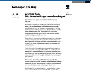 blog.twitlonger.com screenshot