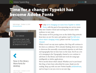 blog.typekit.com screenshot