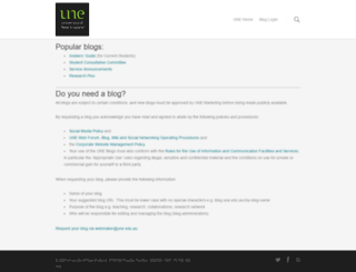 blog.une.edu.au screenshot