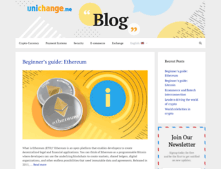 blog.unichange.me screenshot
