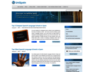 blog.unispain.com screenshot