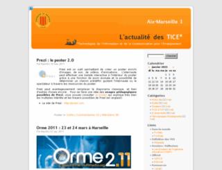 blog.univ-provence.fr screenshot
