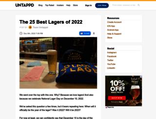 blog.untappd.com screenshot