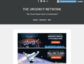 blog.urgencynetwork.com screenshot