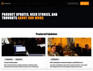 blog.ushahidi.com screenshot