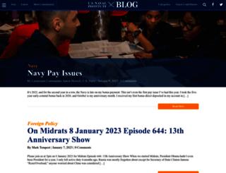 blog.usni.org screenshot