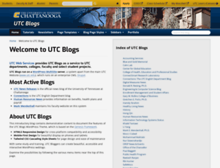 blog.utc.edu screenshot