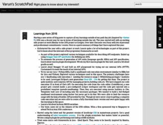blog.varunkumar.me screenshot