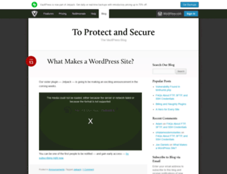 blog.vaultpress.com screenshot