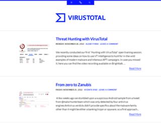 blog.virustotal.com screenshot