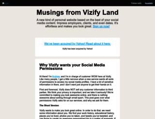 blog.vizify.com screenshot