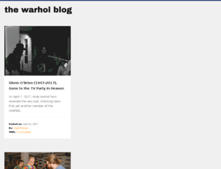 blog.warhol.org screenshot