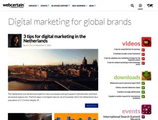 blog.webcertain.com screenshot