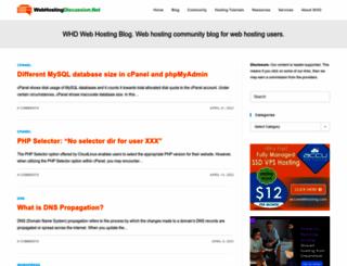blog.webhostingdiscussion.net screenshot