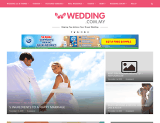 blog.wedding.com.my screenshot