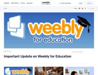 blog.weebly.com screenshot