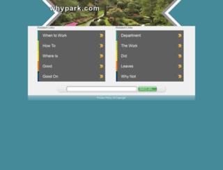 blog.whypark.com screenshot