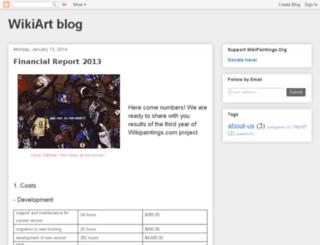 blog.wikipaintings.org screenshot