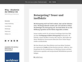 blog.wildner.de screenshot