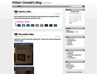 blog.williamgoodall.name screenshot