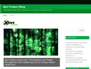 blog.xen.org screenshot