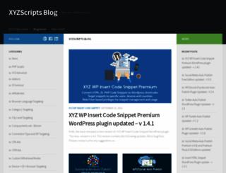 blog.xyzscripts.com screenshot