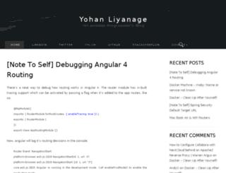 blog.yohanliyanage.com screenshot