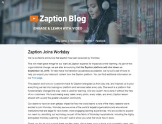 blog.zaption.com screenshot