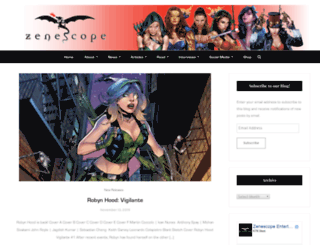blog.zenescope.com screenshot