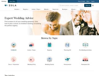 blog.zola.com screenshot