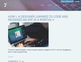 blog.zoltan.co screenshot