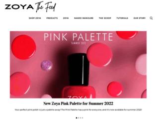blog.zoya.com screenshot