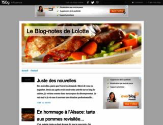 blogalolotte.canalblog.com screenshot