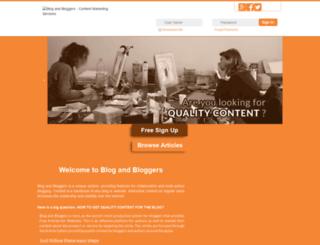 blogandbloggers.com screenshot