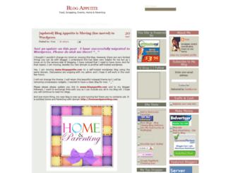 blogappetite.blogspot.com screenshot