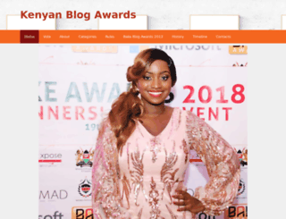 blogawards.co.ke screenshot