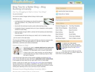 blogbuildingu.com screenshot